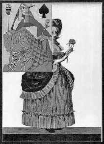 «Пиковая Дама». Фронтиспис художника В.Шухаева. 1922 г.