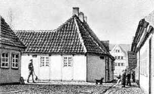 Дом в Оденсе, где жил Г.-Х. Андерсен.