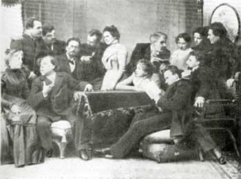 А.П. Чехов c артистами Московского Художественного театра. 1899 г.