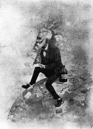 Репродукция прижизненных карикатур на Жюля Верна  (www.julesverne.ca/jvjulesverne.html).